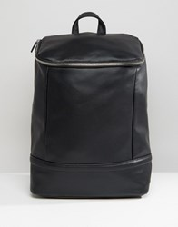 Asos Backpack With Chunky Zip Top Black
