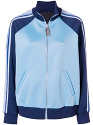 Marc Jacobs Colour Block Track Jacket Polyester Spandex Elastane Nylon Blue