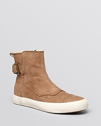 Aerin Flat Cold Weather Booties Hayes Shearling Mushroom Cream
