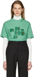 Martine Rose Green Mtv T Shirt