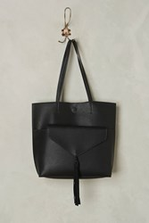 Anthropologie Thoma Clutch And Tote Bag Black