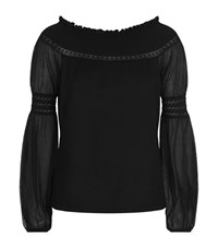Elie Tahari Rita Off The Shoulder Jumper Female Black