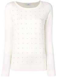 Akris Punto Bead Embellished Knitted Top White