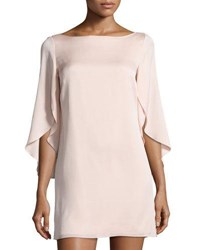 Milly Butterfly Sleeve Stretch Silk Dress Blush