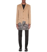 Givenchy Monkey Brothers Wool And Cashmere Blend Coat Beige