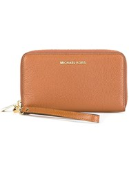 Michael Michael Kors Zip Around Wallet Brown
