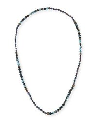 Hipchik Francine Turquoise Agate And Rhinestone Beaded Necklace