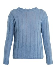 Mih Jeans Carolee Mohair Blend Sweater Light Blue