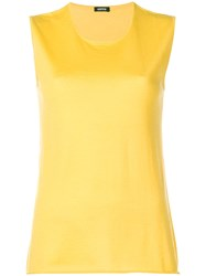 Aspesi Sleeveless Knit Top Yellow And Orange