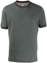 Eleventy Short Sleeve Fitted T Shirt Grey
