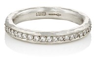 Malcolm Betts White Diamond And Hammered Platinum Eternity Ring No Color