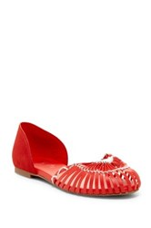 Fergie Nickel D'orsay Flat Red