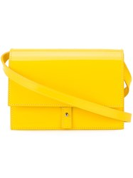Pb 0110 Flap Crossbody Bag Women Patent Leather One Size Yellow Orange