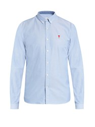 Ami Alexandre Mattiussi Button Cuff Cotton Shirt Blue