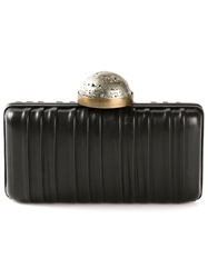 Kelly Wearstler Pleated Clutch Black