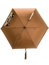 Moschino Bear Umbrella Brown