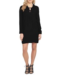 1.State Lace Up Shift Dress Black