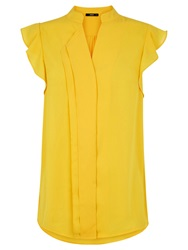 Oasis Frill Sleeve Blouse Bright Yellow
