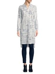 Jones New York Printed Knee Length Tunic Ivory