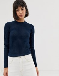 Selected Long Sleeve Knit Top Red