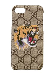 Gucci Tiger Print Iphone 8 Case Nude And Neutrals