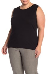 Lafayette 148 New York Knit Shell Plus Size Black