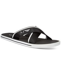 Armani Jeans Logo Slide Sandals Men's Shoes