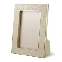 Aerin Classic Shagreen Frame Wheat 4X6 Neutral