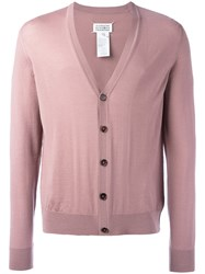 Maison Martin Margiela Knitted Cardigan Pink Purple