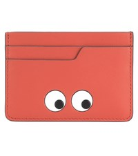 Anya Hindmarch Eyes Leather Card Holder Orange