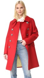 Dsquared Military Double Breasted Coat Red