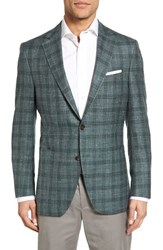 Peter Millar Men's Classic Fit Plaid Wool Blend Sport Coat