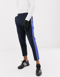 J. Lindeberg J.Lindeberg Golf Ivan Micro Stretch Trousers With Side Taping In Navy