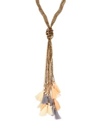 Emily And Ashley Tri Color Knotted Tassel Necklace Multi