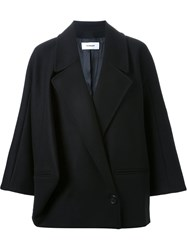 Chalayan Loose Fit Double Breasted Jacket Black