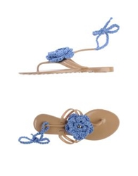 Officine Riunite Thong Sandals Pastel Blue
