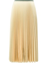Celine Pleated Skirt Nude Neutrals