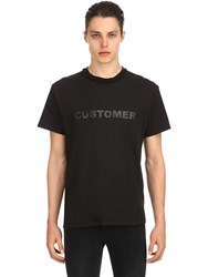Mr.Completely Customer Cotton Jersey T Shirt Black
