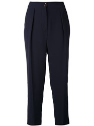 See By Chloe Tapered Trousers Women Polyester Viscose 36 Black