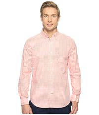 Nautica Long Sleeve Gingham Shirt Pale Coral Men's Clothing Pink