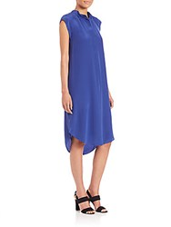 Rebecca Taylor Silk Hi Lo Dress Electric Blue