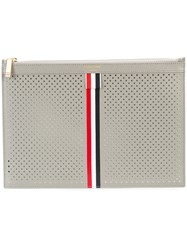 Thom Browne Small Zipper Tablet Holder 29.5X20cm With Red Grey