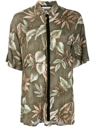 Night Market Hawaii Short Sleeve Shirt Green