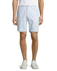 Tailorbyrd Twill Flat Front Shorts Light Blue