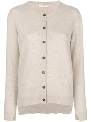 Pringle Of Scotland Classic Fitted Cardigan Nude And Neutrals