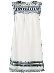 Sea Knitted Tassel Dress Women Silk Cotton 6 White