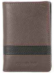 Cerruti 1881 Stripe Detail Bifold Wallet Brown