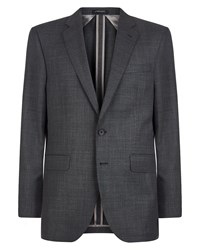 Jaeger Regular Flecked Basketweave Jacket Charcoal