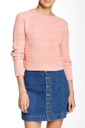 American Apparel Fisherman Crop Sweater Pink