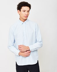 B.D Baggies Classic Striped Oxford Shirt Light Blue White